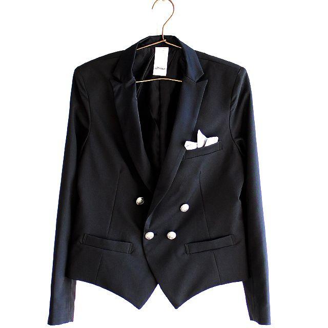 フェイクチーフ挿しダブルブレストスペンサージャケット | メンズスカートなどモード系ファッションの通販 albino