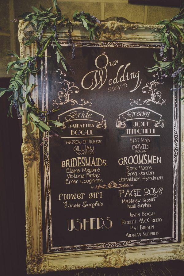 Wedding program signage | Image by Ten21 Photography