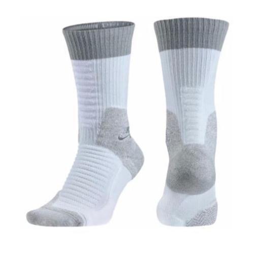 Nike-Mens-Elite-Dri-Fit-Skate-Board-Crew-2-0-Socks-SZ-8-12-White-Gray-SX5007-100