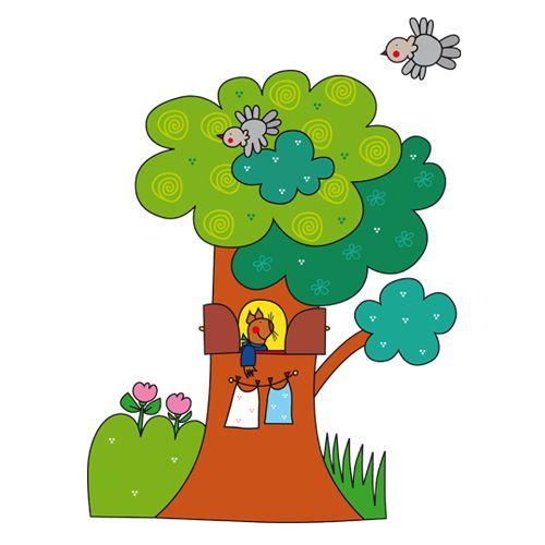 Vasco Squirrel's treehouse Adesivo Murale
