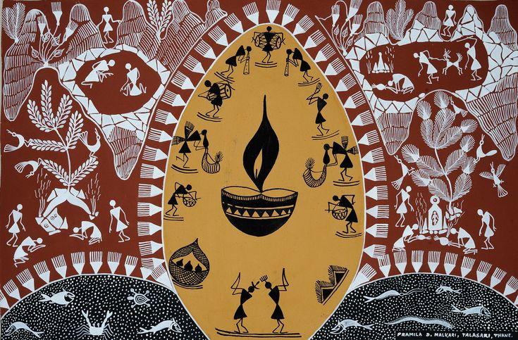 Festival Of Light Indian Folk Art Tribal Art Madhubani Art