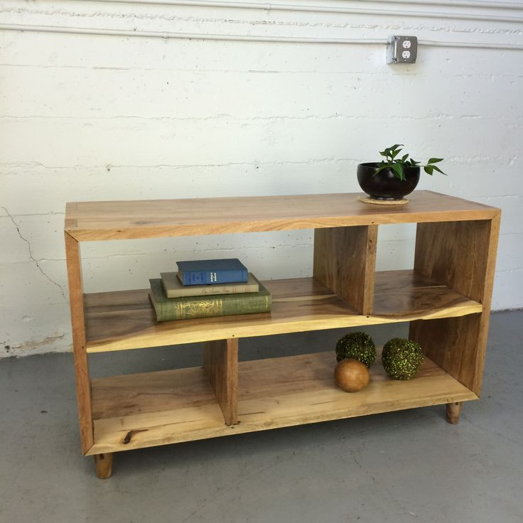Karen's shelves, made from salvaged wood found in Indonesia.