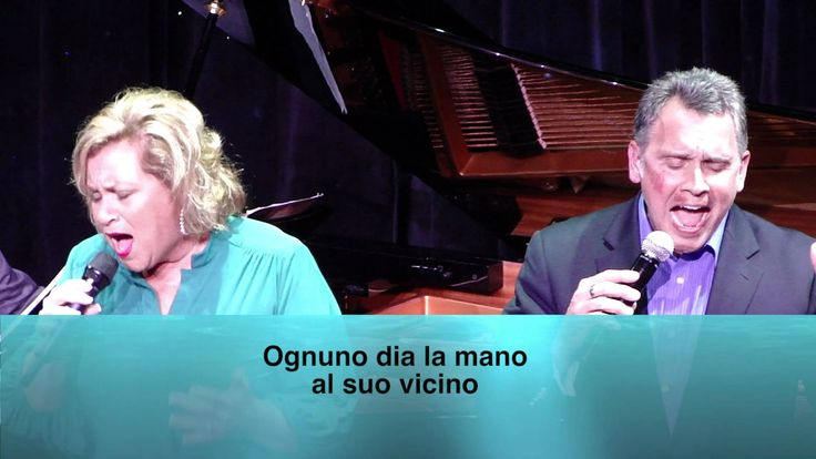 """Sandi Patty and her husband, Don Peslis, singing """"The Prayer"""" at the Sandi Patty & Friends Cruise 2012. These two make a powerful duo!"""