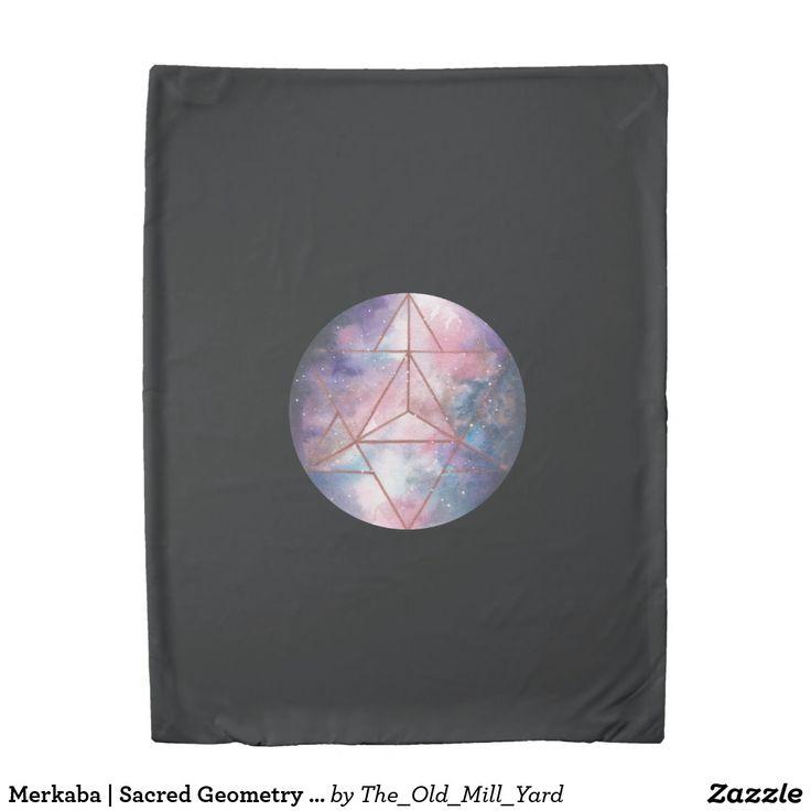 Merkaba | Sacred Geometry duvet cover by Kari Weatherbee