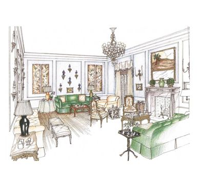 Michael Hampton Design    Sketchbook Of Interior Designs