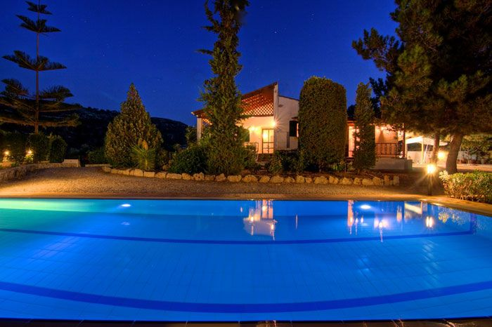 Metochi Villa is an attractive detached house, in the hills 2 km  from Rethymnon and approximately 3 km from the nearest sandy  beach. It is surrounded by large grounds of 3000sqm, and is  nicely positioned in gardens with colourful flowers