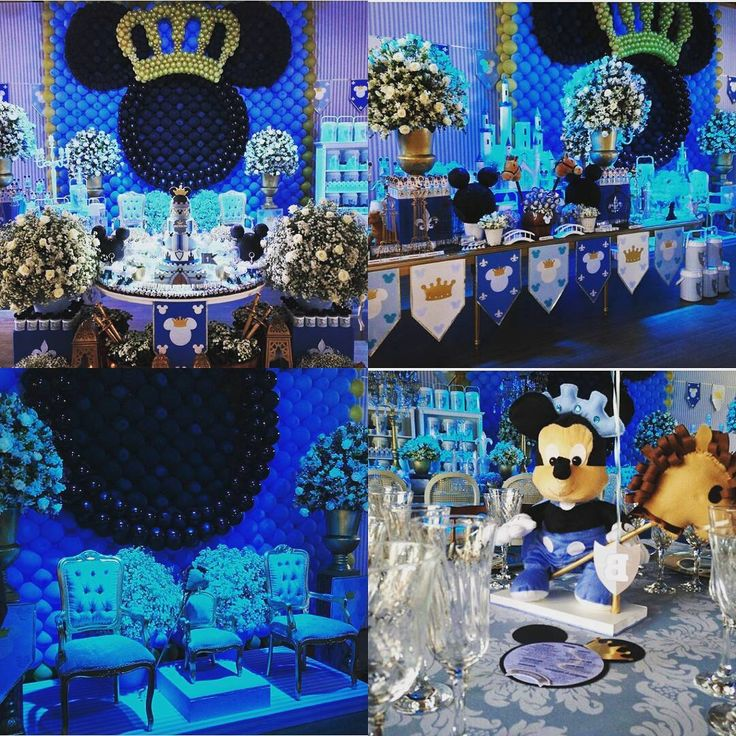 """""""Dois temas que sou apaixonada em um só. Amei essa combinação que deu origem a essa festa linda do @fabiodaltro. """"Príncipe Mickey"""" trouxe a sofisticação…"""""""