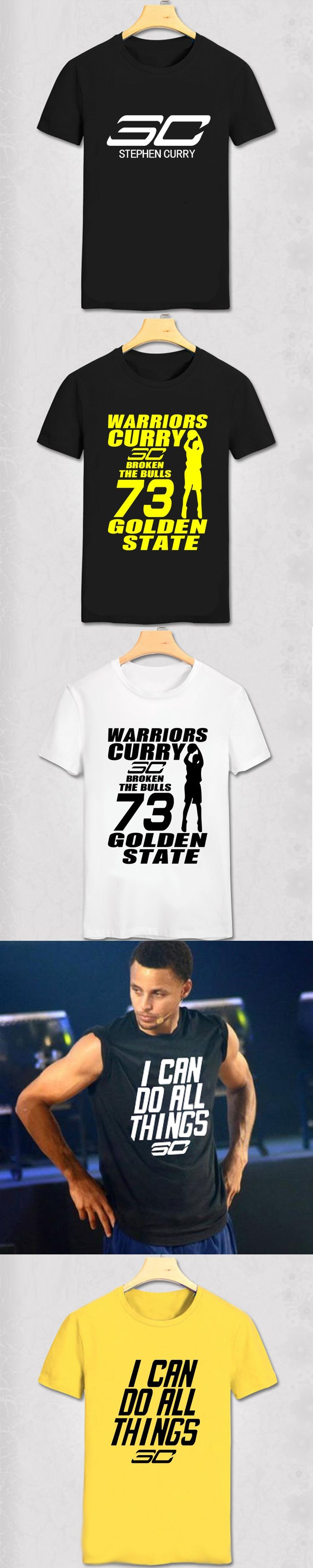 The warriors Stephen Curry cartoon t shirt 73 winning streak design men's t-shirt jersey O neck short-sleeve Tees