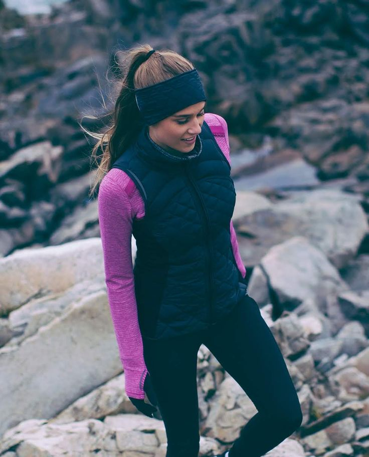 Fluff Off Vest ~ perfect for cold weather runs.