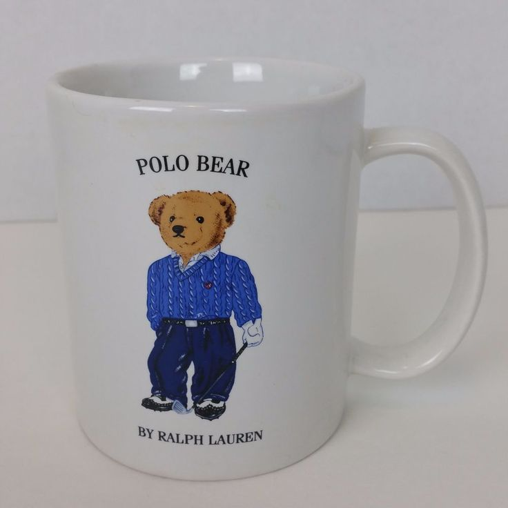 Polo Bear by Ralph Lauren Golf Bear 1997 Vintage Coffee Tea Mug Cup   Collectibles, Decorative Collectibles, Mugs, Cups   eBay!