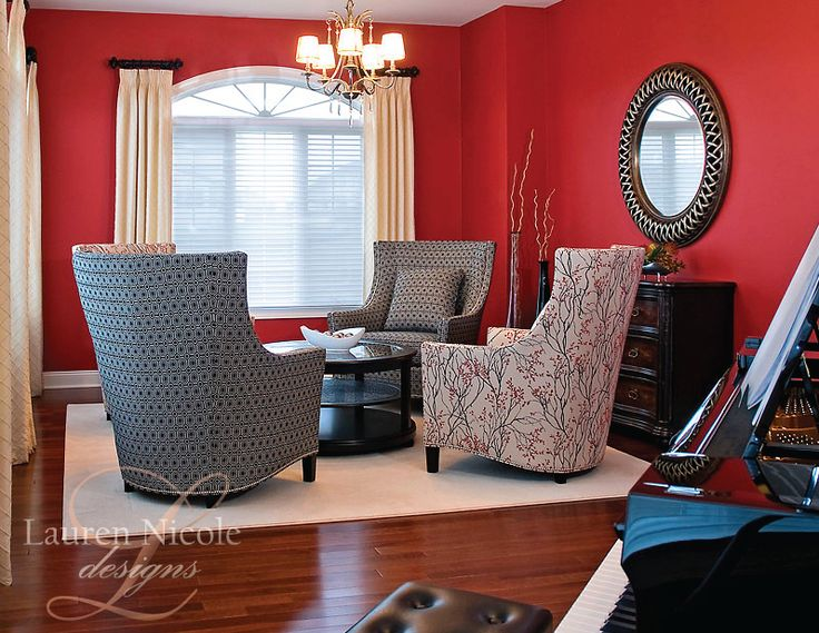 For the musician or music lover this piano room is elegant and creative interiordesign