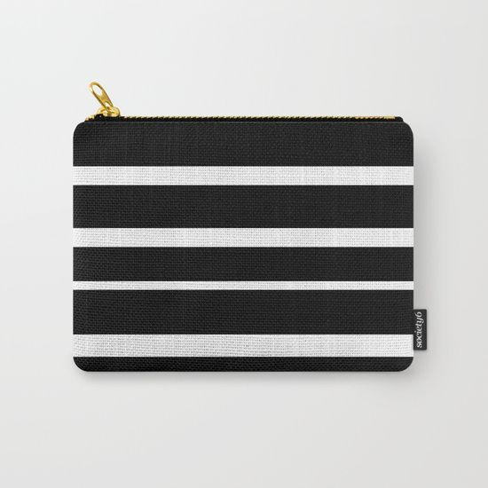 Black and White Stripes Carry-All Pouch by Bravely Optimistic | Society6