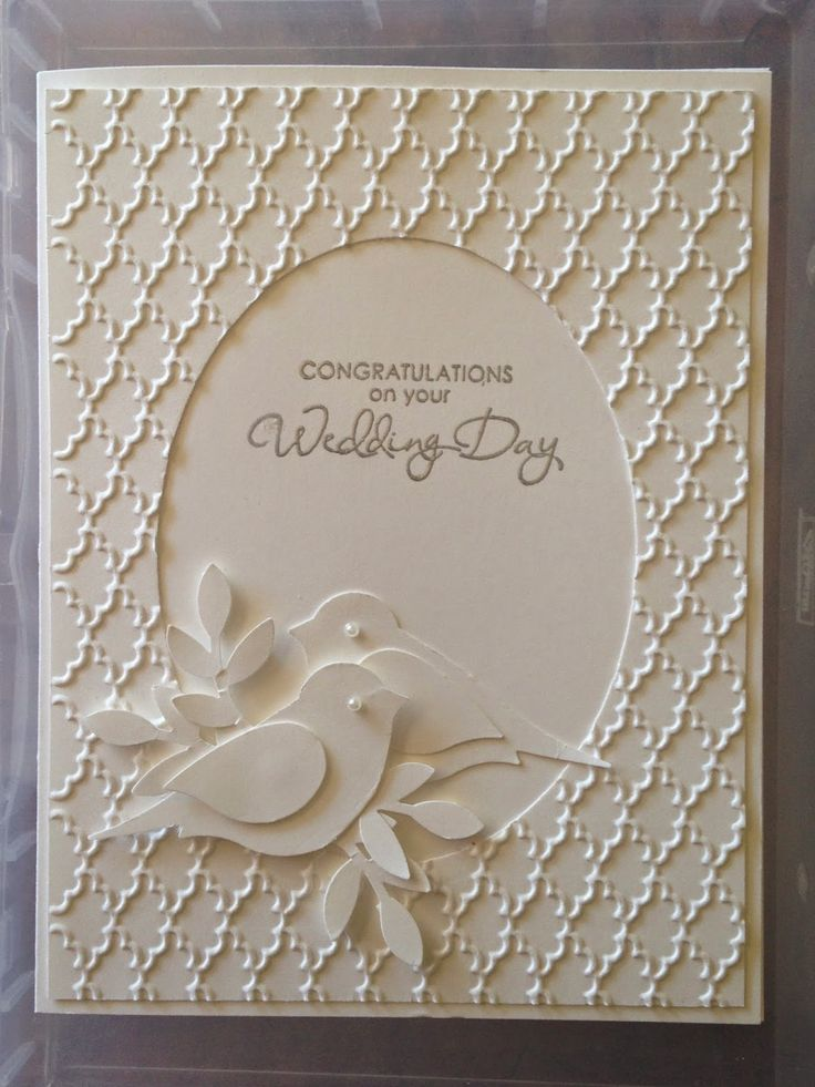 Greetings by Gosia: White on White Wedding, Easter Cards.  Lovely card and she gives very good, step by step instructions.