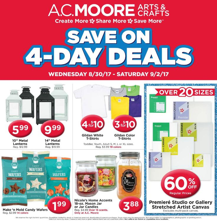 AC Moore Weekly Ad August 30 - September 4, 2017 - http://www.olcatalog.com/home-garden/ac-moore-weekly-ad.html