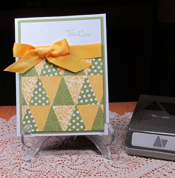 Pennant Parade in Yellow and Green by JD from PAUSA - Cards and Paper Crafts at Splitcoaststampers