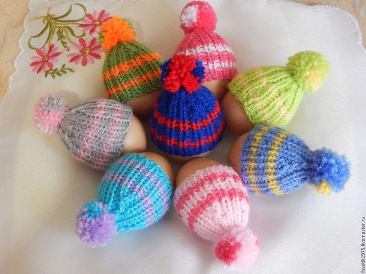 Купить Шапочки на пасхальные яйца - комбинированный, шапочки, шапочка, шапочка вязаная, пасхальное яйцо