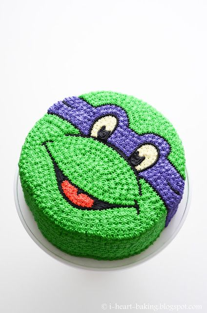 i heart baking!: teenage mutant ninja turtle cake