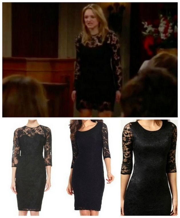 The Young and the Restless Fashion: Get Summer Newman's Black Lace Dress For Less – Hunter King's Style!