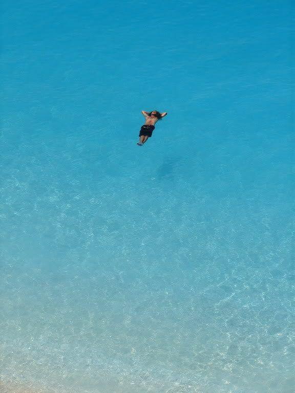 """""""Floating"""" on Porto Katsiki ~ Paradise in Lefkada!"""