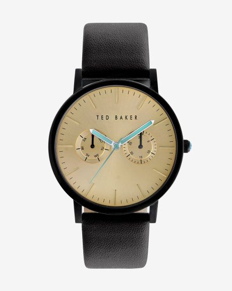 Round face watch - Black | Watches & Jewellery | Ted Baker UK