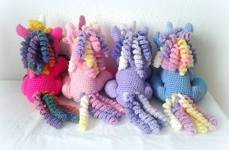 my crochet unicorns :-)