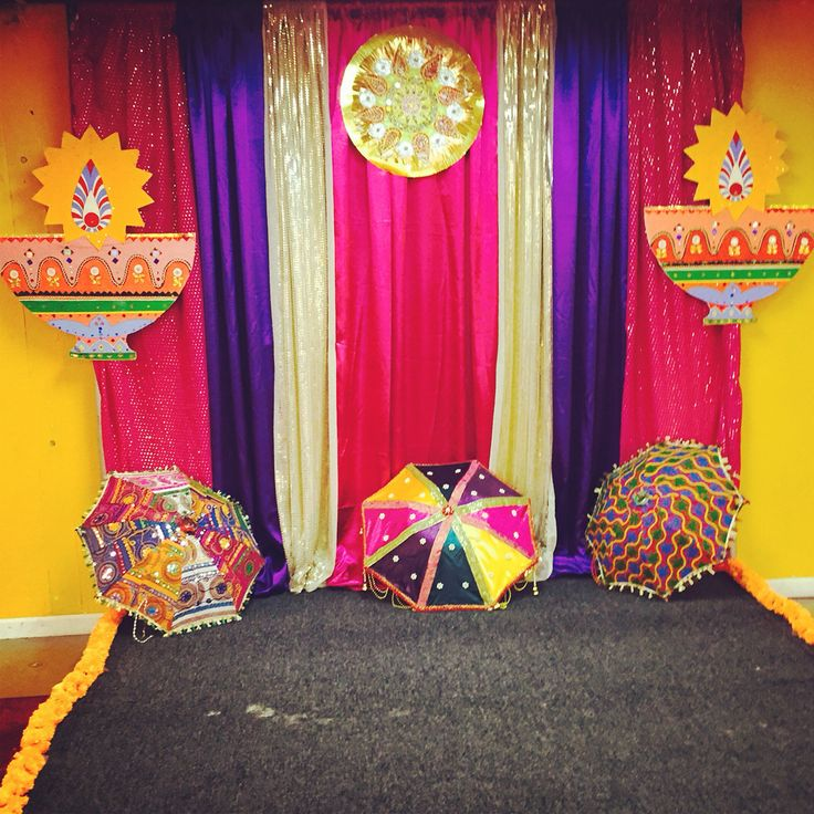 Home Decor Ideas For Navratri: Bollywood Diwali Party Photo Booth Backdrop