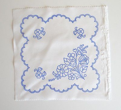 Kalocsa doily pattern print from Hungary New  10 1/4'' x 10 1/4 '' DIY