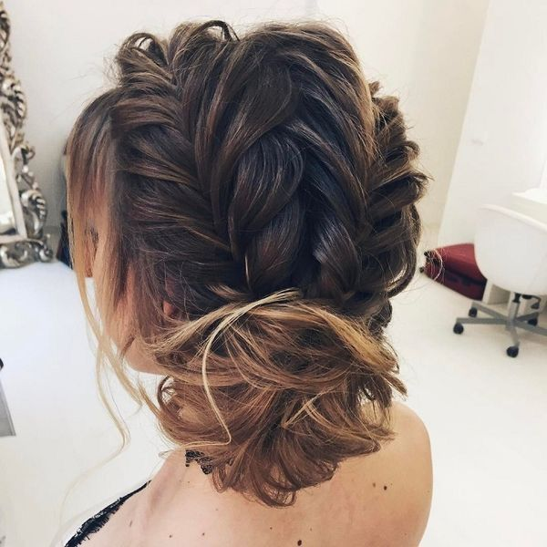 This is so pretty.  And it could totally be simplified if you did French braids instead of Fishtail braids.