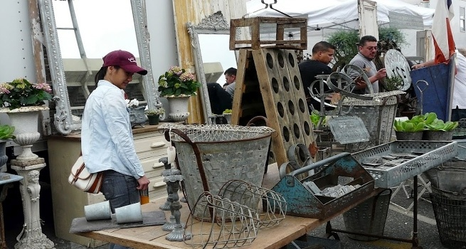 Long Beach Antique Market  Such good junk and even better people watching!