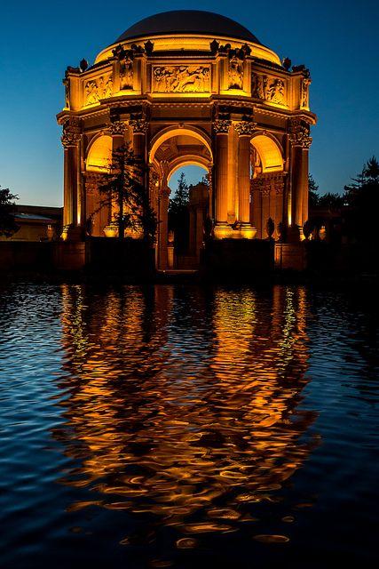 Palace of Fine Arts, San Francisco, California #USA