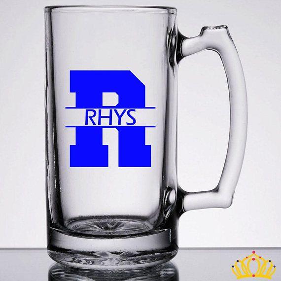 Monogram Beer Mug Personalized Beer Mug Groomsmen Beer Mugs