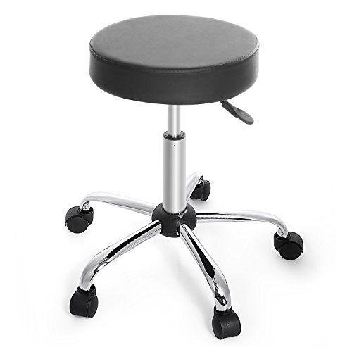 Homdox Swivel Stool Height Adjustable Rolling Bar Stool with Wheels 360 Degree Rotation Casters for Salon  sc 1 st  Pinterest & 191 best Office Chairs and Stools images on Pinterest | Barber ... islam-shia.org
