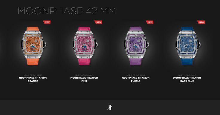 Monophase Titanium Orange, Pink, Purple, Dark Blue