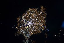 Las Vegas Valley - Wikipedia, the free encyclopedia Vegas from the air at night