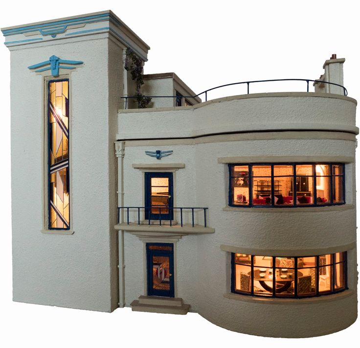 Art Deco Homes: 123 Best The Hippest Modern Dollhouses And Architectural