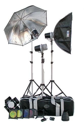 Set of 3 Studio Flash Combo Kit With Stands And tons of Extras - SC13480