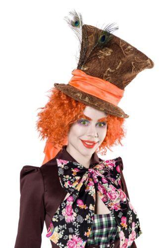 Costume Cappellaio Matto travestimento Donna Carnevale cosplay Mad Hatter  Alice f8732987df3d