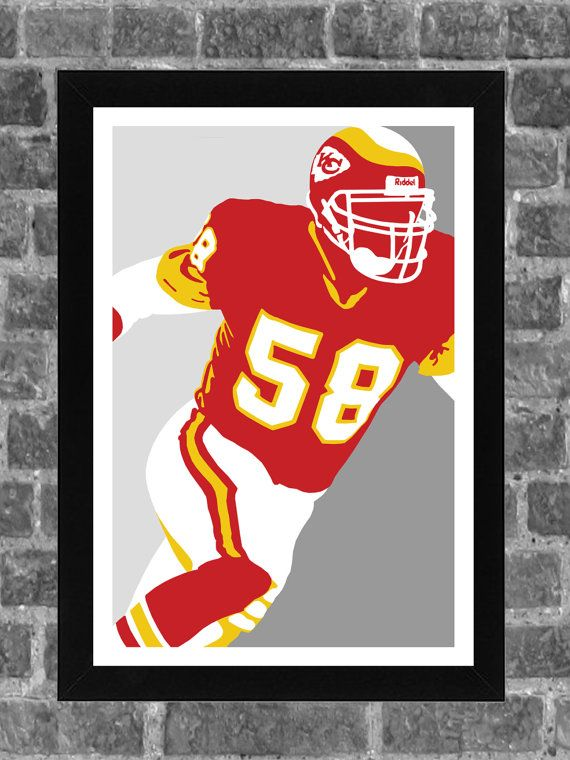 Kansas City Chiefs Derrick Thomas Portrait Sports Print Art 11x17