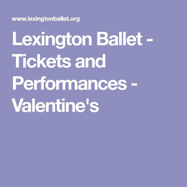 Lexington Ballet - Tickets and Performances - Valentine's
