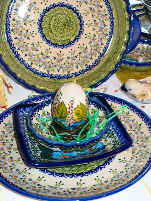 Spring pattern mix  sc 1 st  Pinterest & 35 best Easter Polish Pottery images on Pinterest | Polish pottery ...