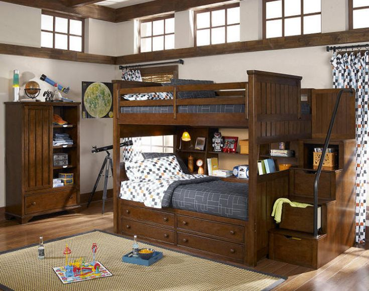 Jefferson Full Over Full Stairway Bunk Bed Without Bottom Bookcase...pictured Here Is Full Over
