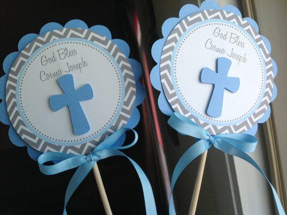 Baptism Centerpiece Decoration Sticks Set of by inspirationsdesign, $8.50
