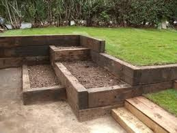 garden landscaping railway sleepers - Google Search