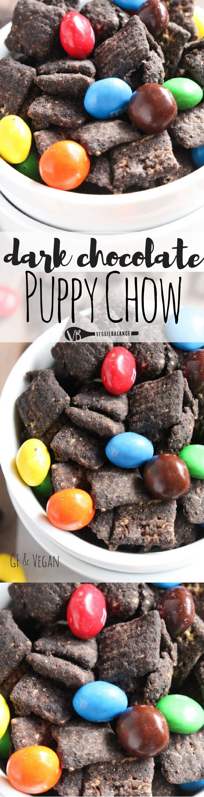 Dark Chocolate Puppy Chow recipe, 6-Ingredients, No one will notice that it has a healthier, gluten-free twist than the traditional recipes. This magic formula has been tested and approved.