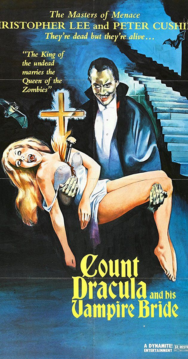 Directed by Alan Gibson.  With Christopher Lee, Peter Cushing, Michael Coles, William Franklyn. In London in the 1970s, Scotland Yard police investigators think they have uncovered a case of vampirism. They call in an expert vampire researcher named Van Helsing (a descendant of the great vampire-hunter himself, no less) to help them put a stop to these hideous crimes. It becomes apparent that the culprit is Count Dracula himself, disguised as a reclusive property developer, but secretly ...