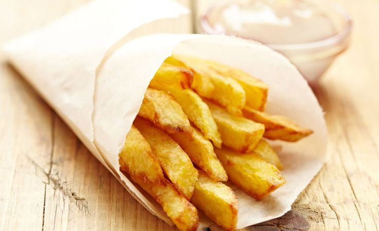 Classic French Fries with Japanese Mayo French fries wrapped in a paper cone and dipped in Japanese mayo. Oh là là!