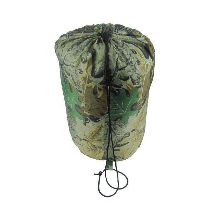 Tourbon Portable Envelope Camping Sleeping Bag Outdoor Hunting Fishing Travel Hiking Camo Bag Military