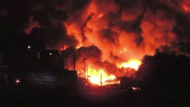 Lac-Megantic freight train explosion forces 1,000 people evacuation