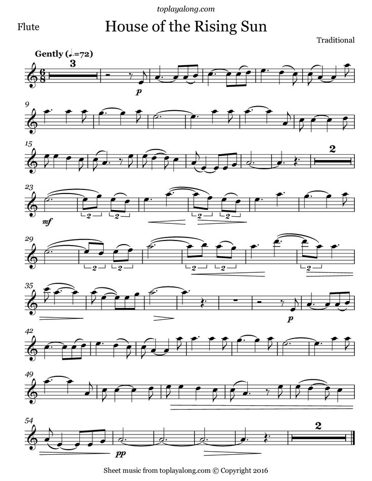 403 best flute sheet music images on pinterest backing for House music songs