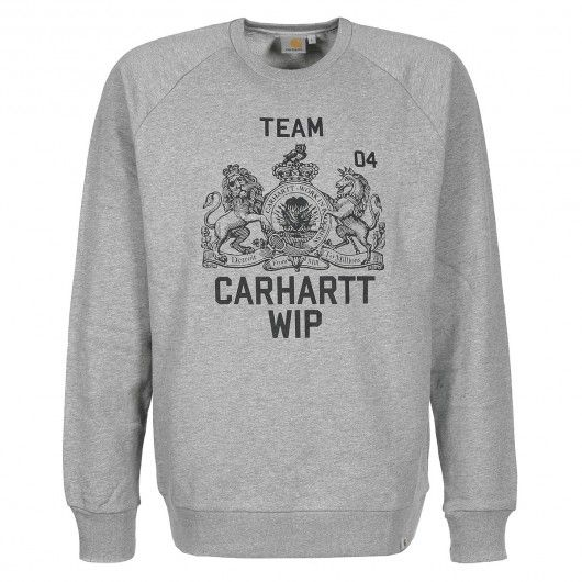 CARHARTT Team Sweatshirt bordeaux heather black - grey heather black 79,00 € #carhartt #carharttwip #workinprogress #jacket #blouson #doudoune #jackets #men #skate #skateboard #skateboarding #streetshop #skateshop @playskateshop